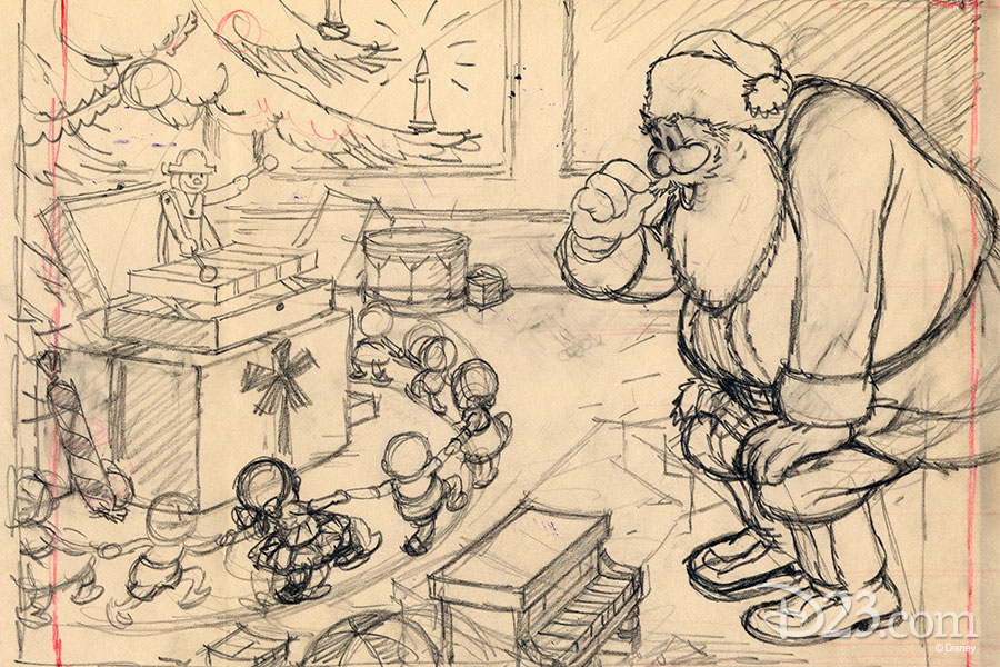 Story sketch by a Disney Studio Artist - The Night Before Christmas (1933)