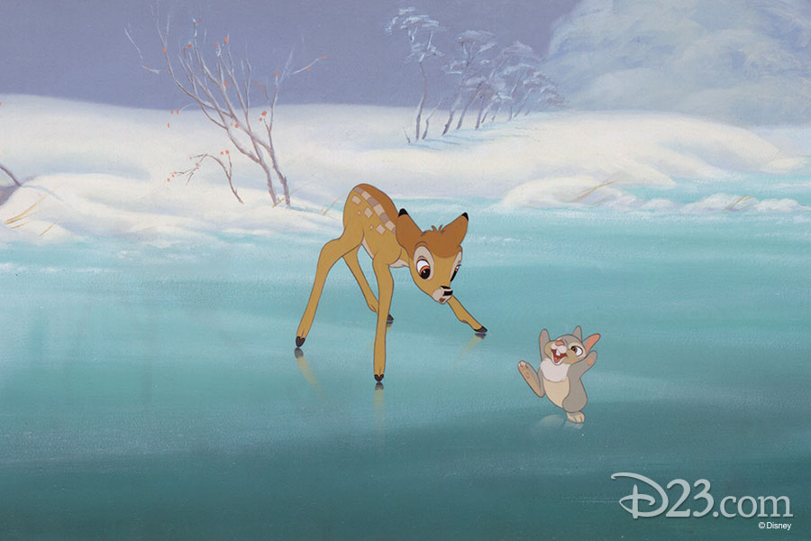Cel set up by Disney Studio Artists - Bambi (1942)