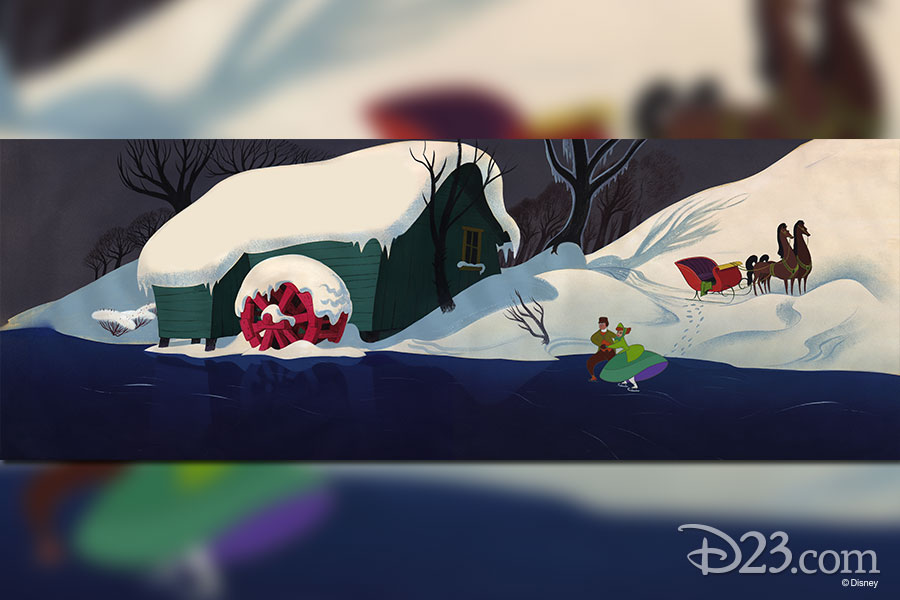 "Cel set up by Disney Studio Artists - Melody Time - ""Once Upon a Wintertime"" (1948)"