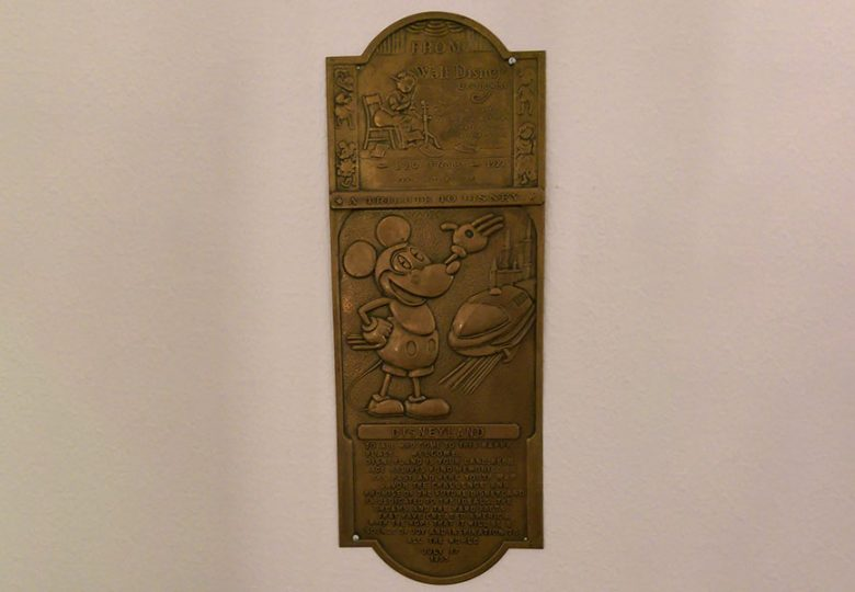 Mickey counterfeit brass sign
