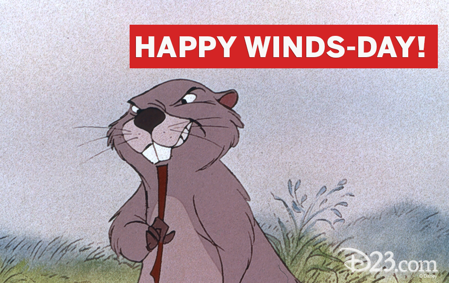 "Winnie the Pooh quote ""Happy Winds-day!"""