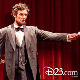 Abraham Lincoln Audio-animatronics human figure