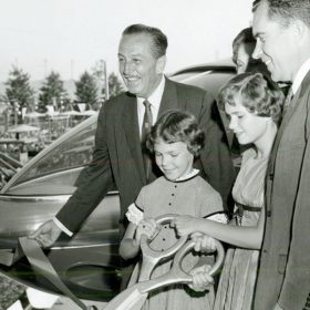 Walt Disney with Vice President Nixon and his family