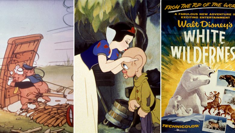 The Three Little Pigs, Snow White and the Seven Dwarfs, and White Wilderness
