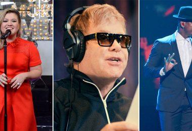 Kelly Clarkson, Elton John, and Ne-Yo