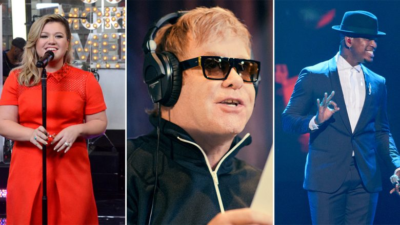 Kelly Clarkson, Elton John, and Ne-Yo