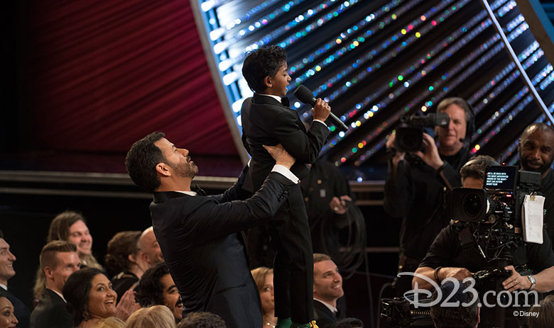 Jimmy Kimmel and Sunny Pawar reenact The Lion King
