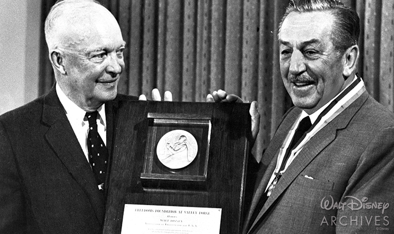 President Eisenhower with Walt Disney