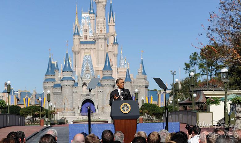 President Barak Obama at Magic Kingdom