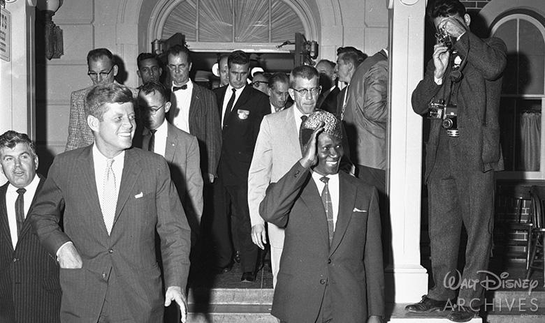 John F. Kennedy at Disneyland