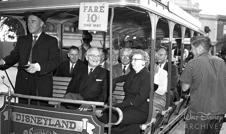 President Harry Truman at Disneyland