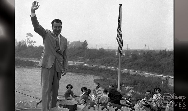 President Richard Nixon on the Mark Twain at Disneyland
