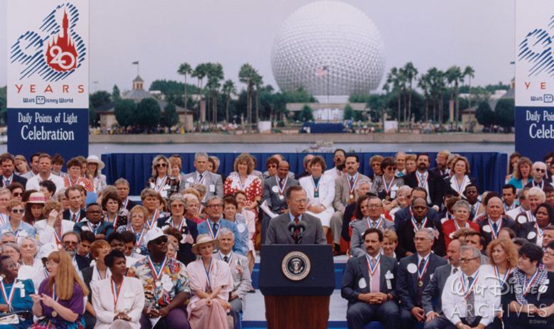 President George H. W. Bush at Epcot