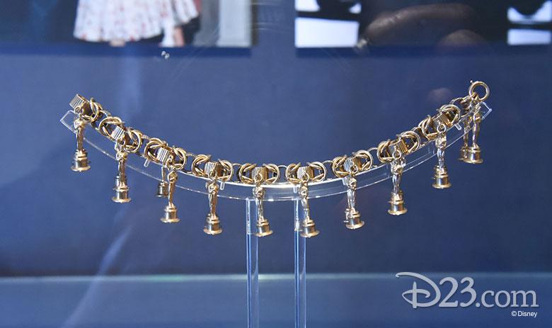 Gold Oscar charms requested by Walt Disney