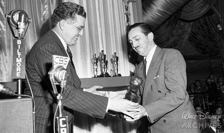 Walt receiving the Irving Thalberg Memorial Award
