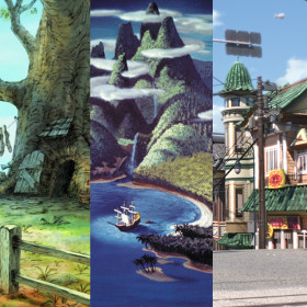 Disney location postcards