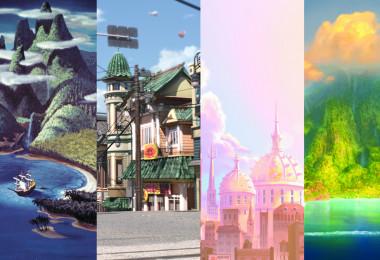 Disney location postcards