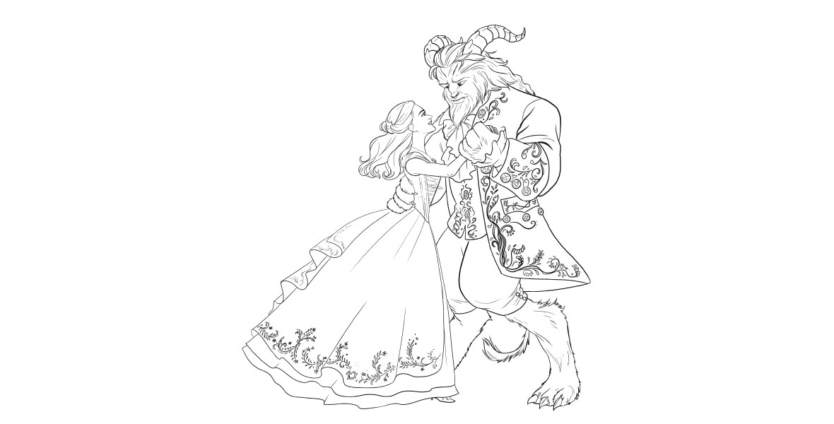 Say Bonjour To These Beauty And The Beast Coloring Pages D23