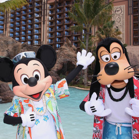 Mickey and Goofy at Aulani resort