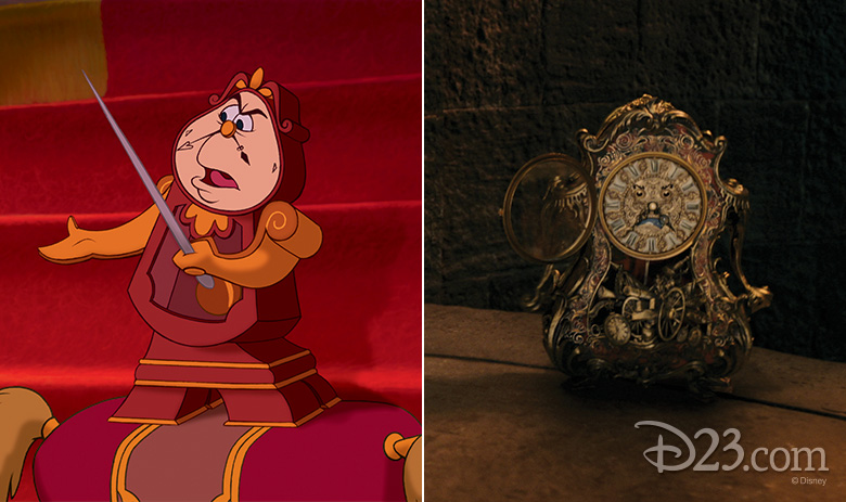 Cogsworth animated and live action