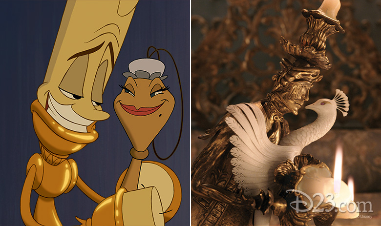 Lumiere animated and live action