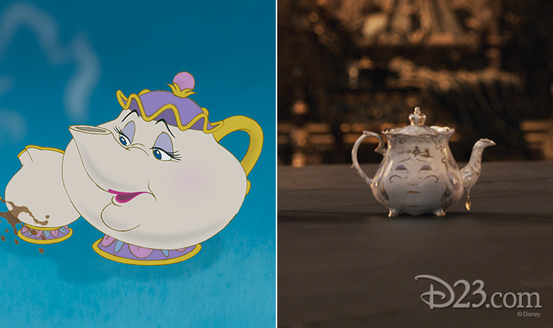 Mrs Potts animated and live action