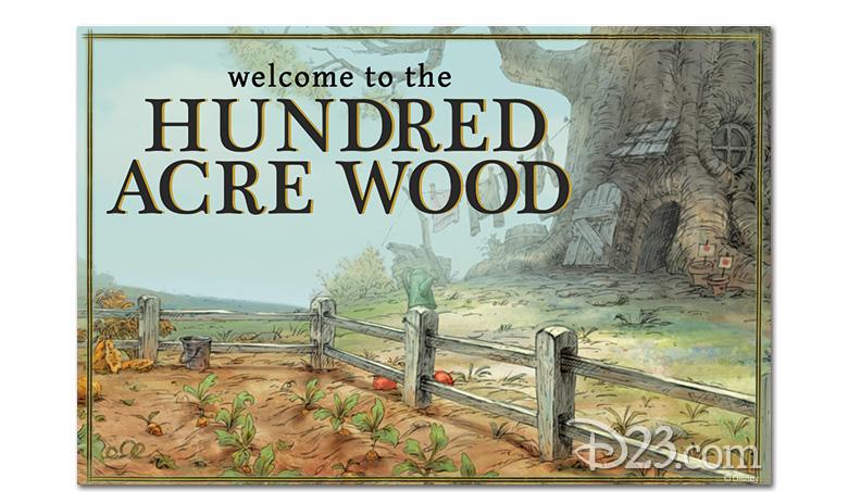Hundred Acre Wood postcard