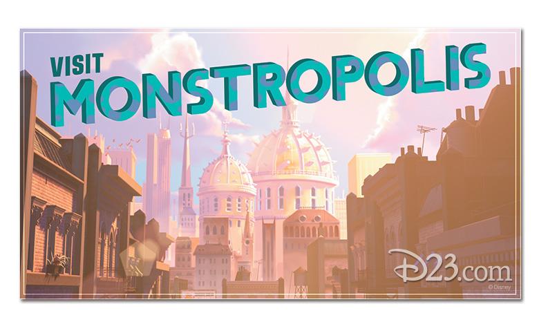 Monstropolis postcard