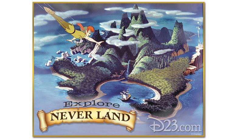 Never Land postcard