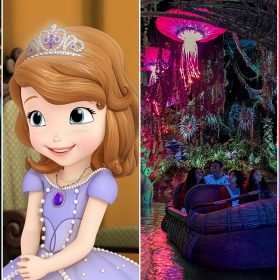 Split image of Beauty and the Beast, Sofia the First, Pandora, and Raven