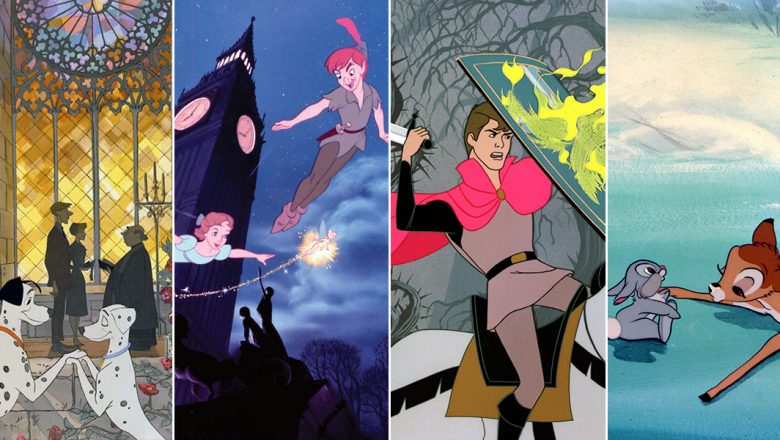 Lady and the Tramp, Peter Pan, Sleeping Beauty, and Bambi