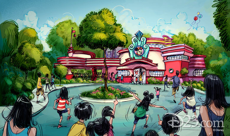 Minnie greeting area concept for Tokyo Disneyland