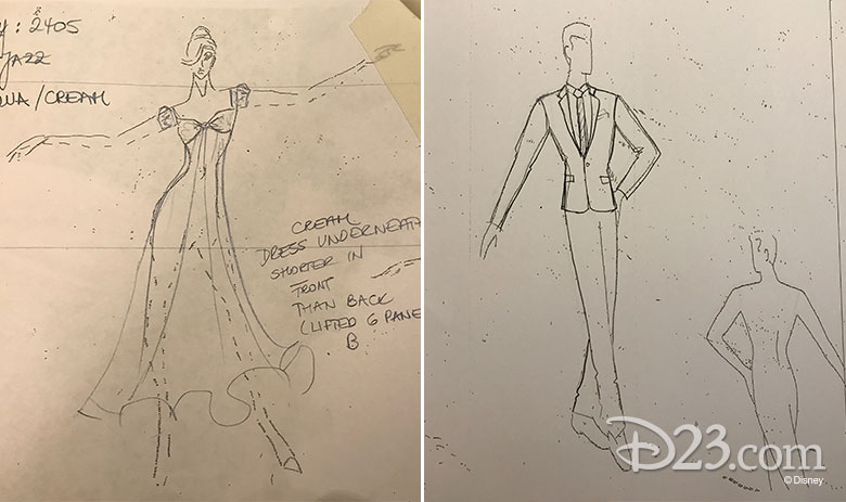 Dancing with the Stars Season 24 Disney night costume sketches