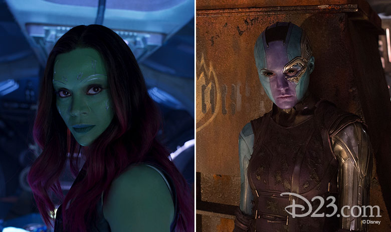 Gamora and Nebula from Guardians of the Galaxy Vol. 2