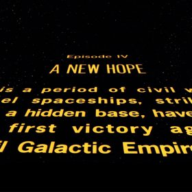 Star Wars: A New Hope opening crawl