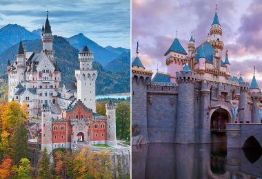 Sleeping Beauty Castle real vs Disney