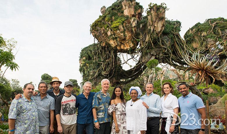 Cast of Avatar enjoy Pandora - The World of Avatar