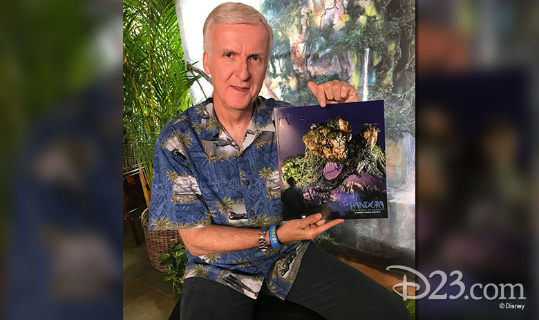 James Cameron holding Disney twenty-three
