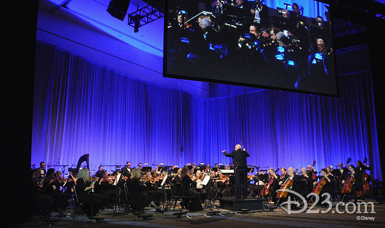 John Williams conducting and orchestra