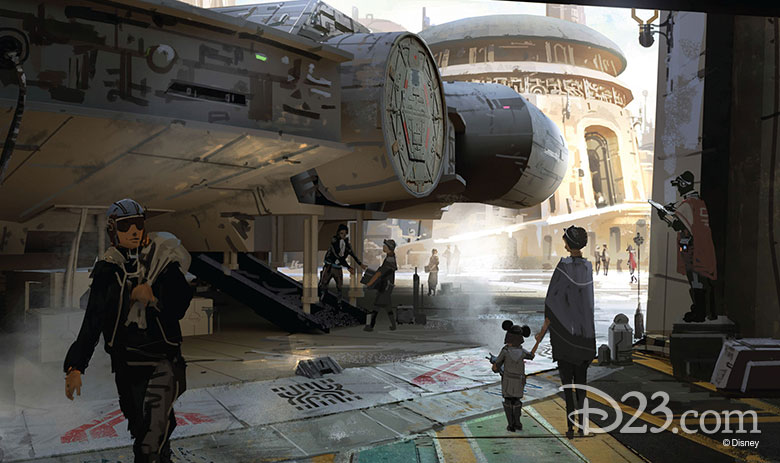 Star Wars-themed Lands concept art