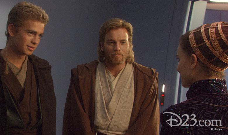 Anakin, Obi-Wan, and Padme