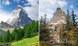 Matterhorn real vs Disney