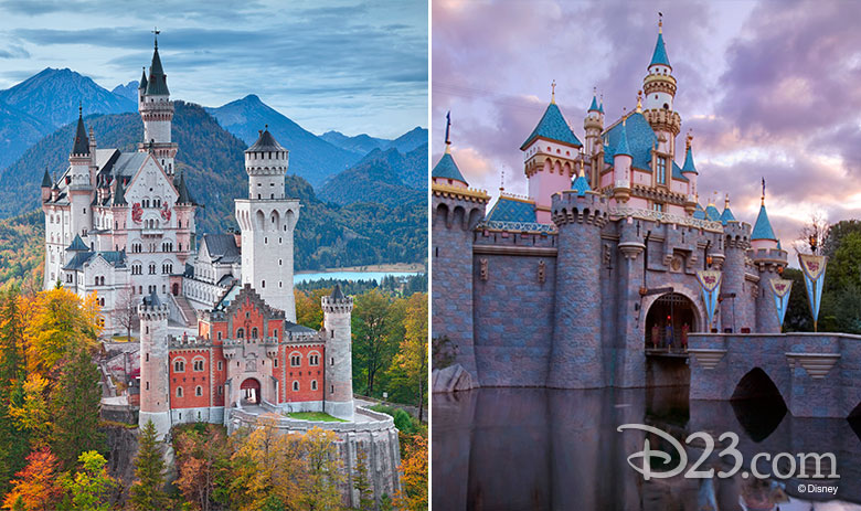 Sleeping Beauty Castle real vs Disney