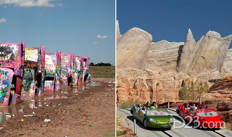 Cadillac Range real vs Disney