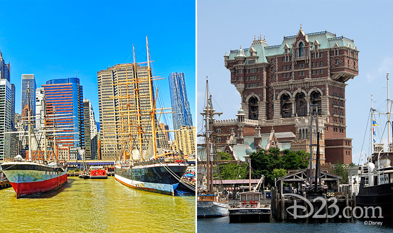American Waterfront real vs Disney