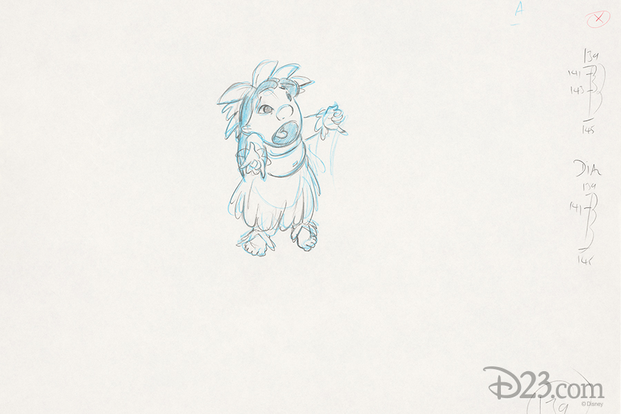 Lilo & Stitch Production Art - Lilo complaining