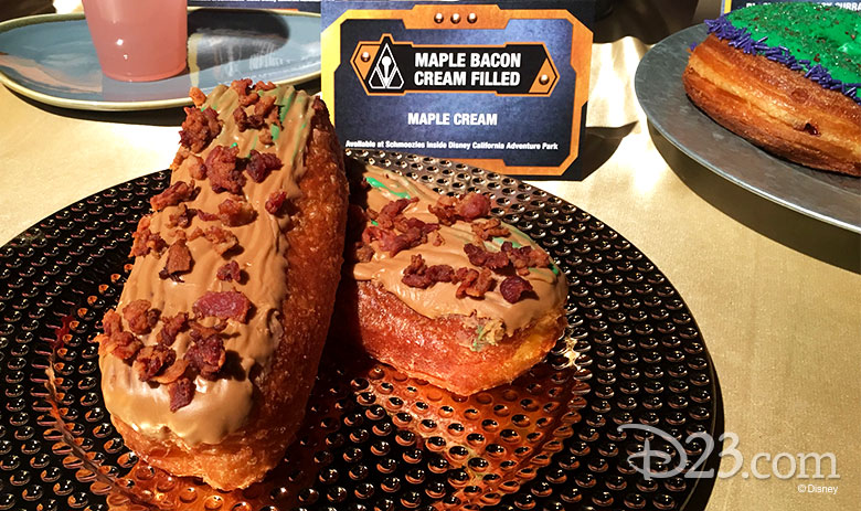Maple-bacon-filled doughnut
