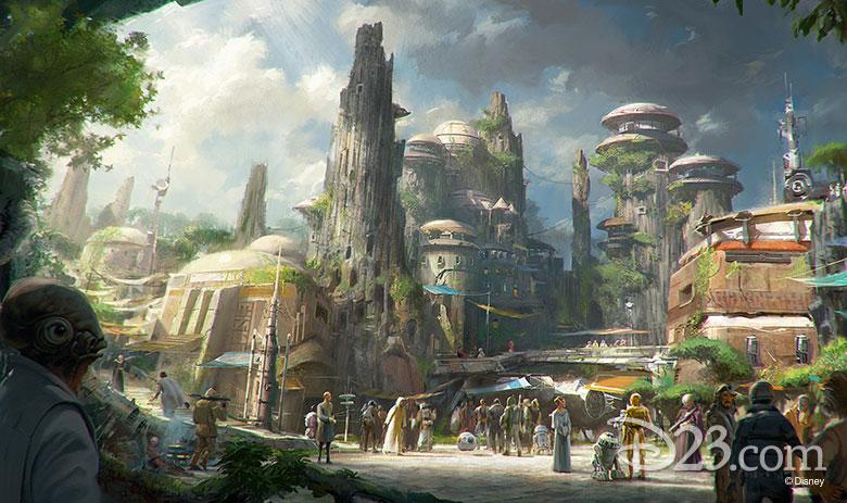 Star Wars-themed Lands concept art