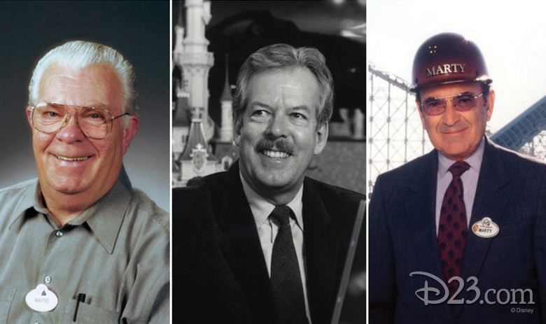 Wayne Jackson, Tony Baxter, and Marty Sklar