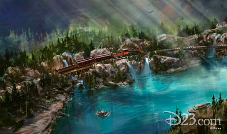 Disneyland Railroad concept art